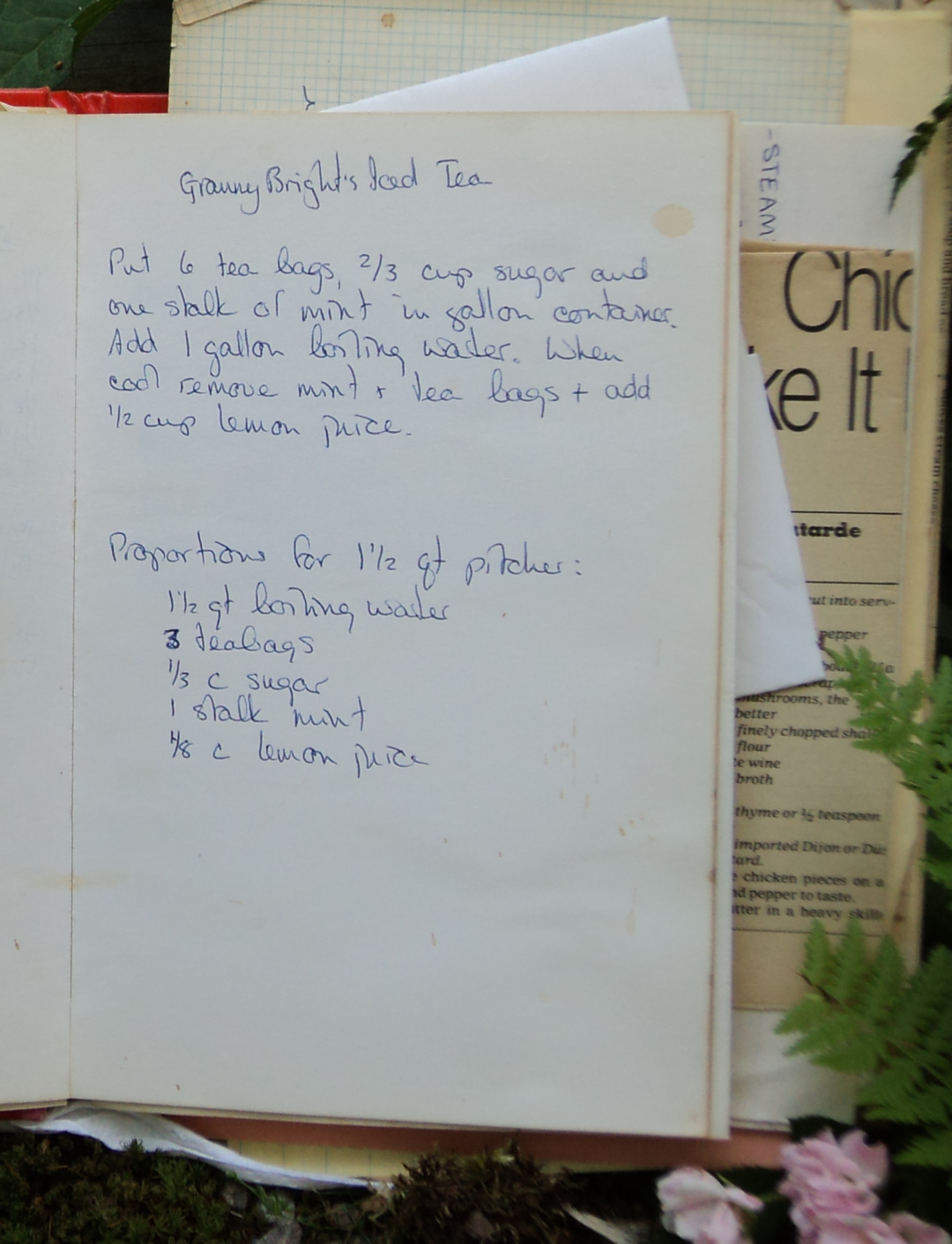 Recipe for Granny Bright's Iced Tea
