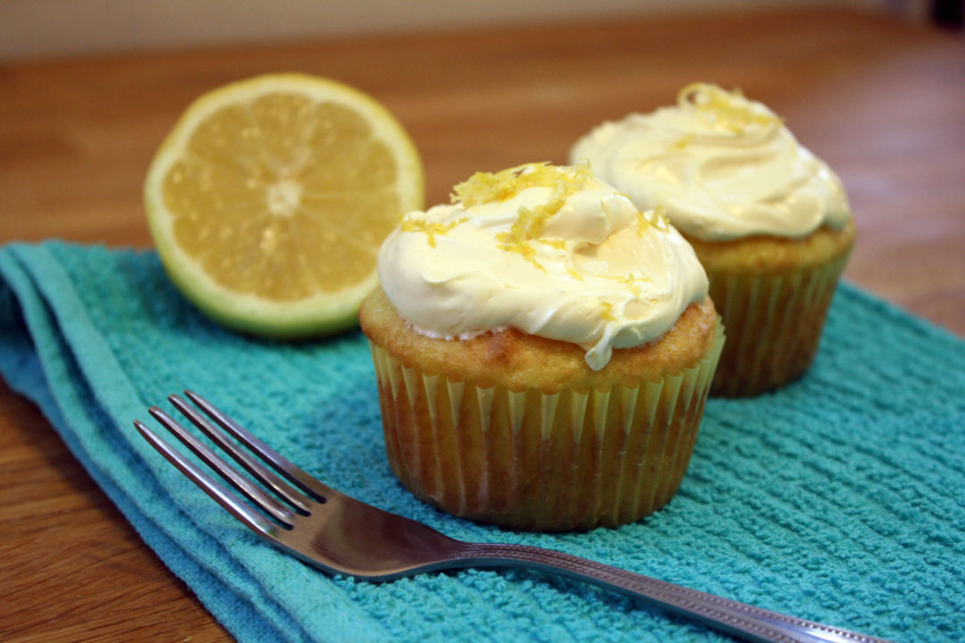 Lemon Ginger Cupcakes with a Zesty Buttercream Frosting