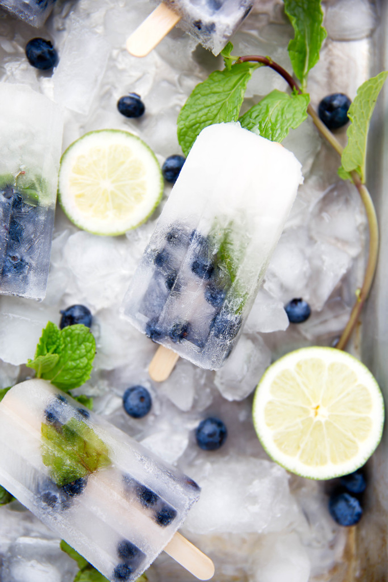 blueberry mojito popsicle by broma bakery