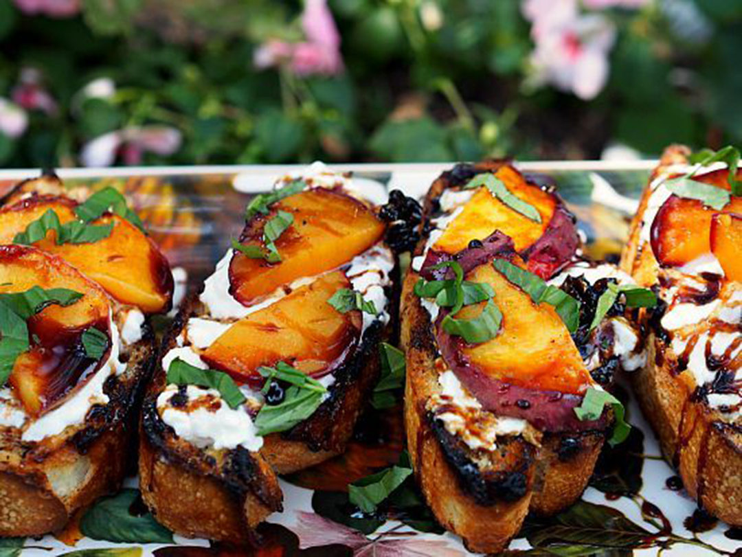 grilled fruit bruchetta by rocky mountain cooking