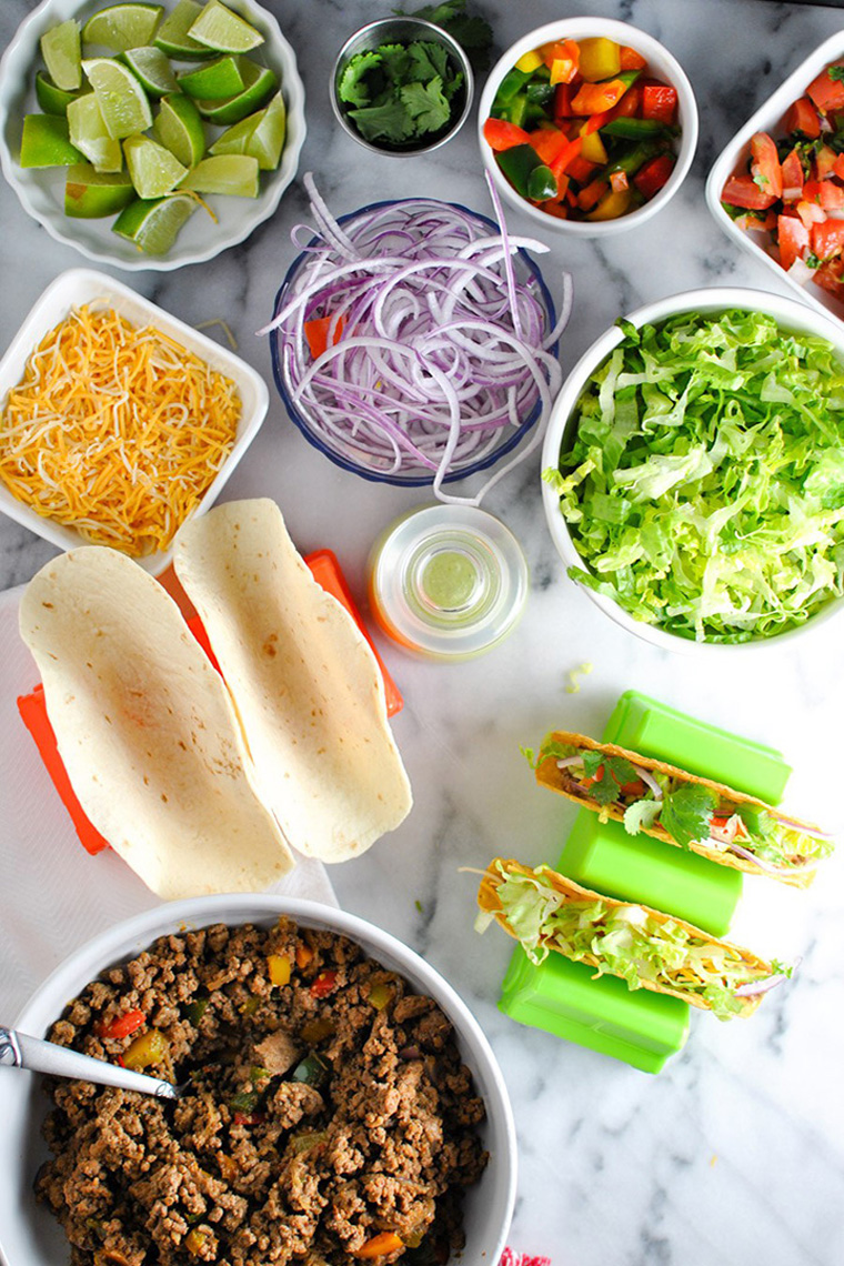 Lovely Taco Dinner Party Ideas Part - 5: DIY Taco Bar