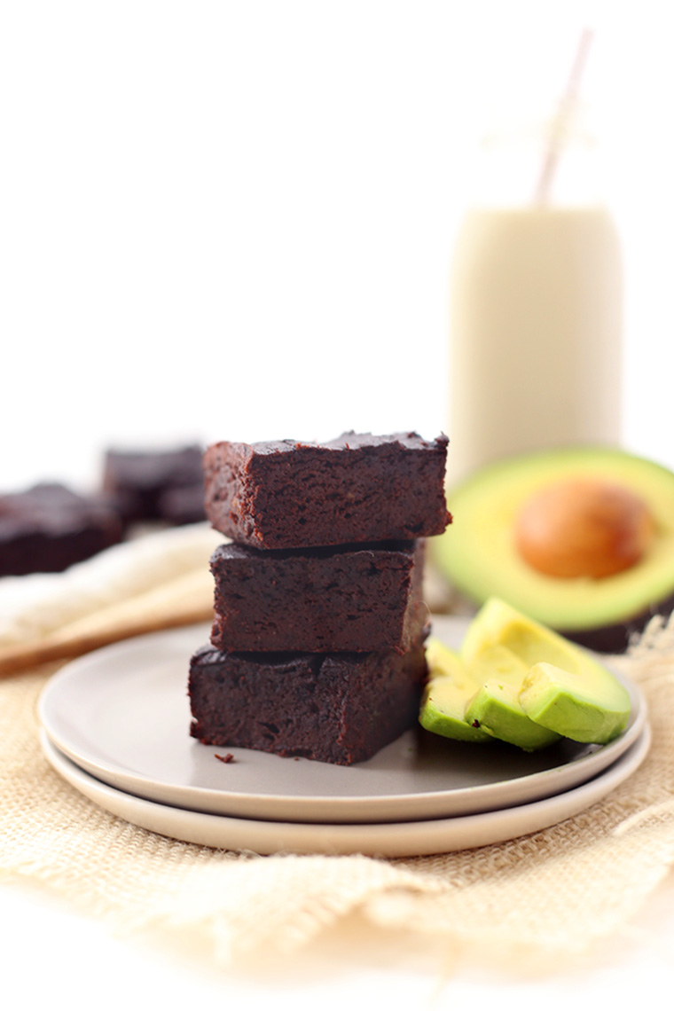avocado brownies by the healthy maven