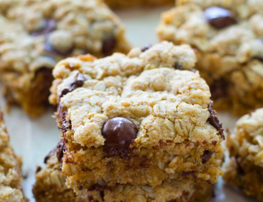 chocolate chip cookie bars whole and heavenly oven