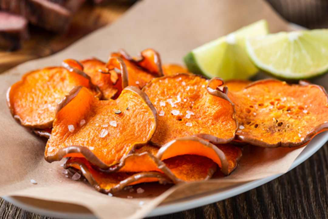baked sweet potato chips by alison d'anna