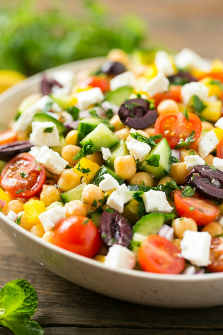 chopped greek salad dinner at the zoo
