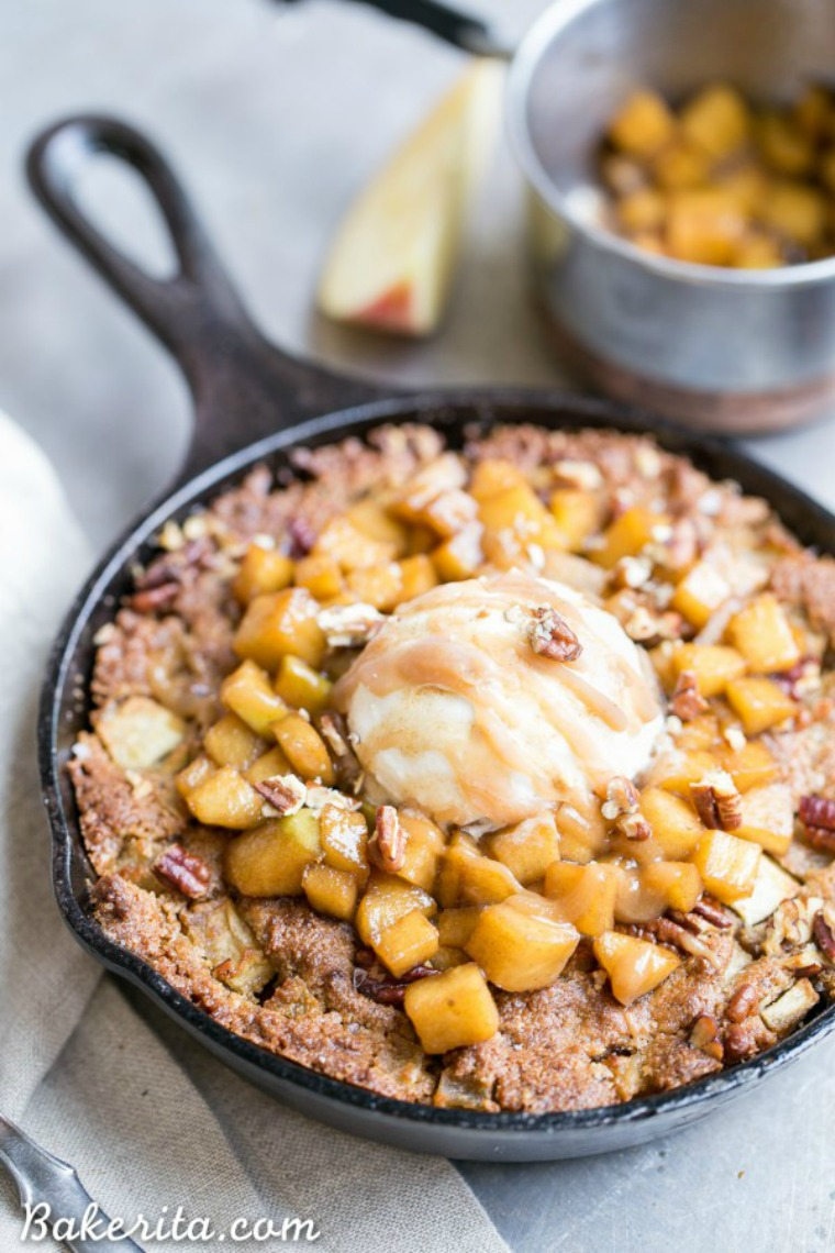 apple cinnamon skillet cookie bakerita