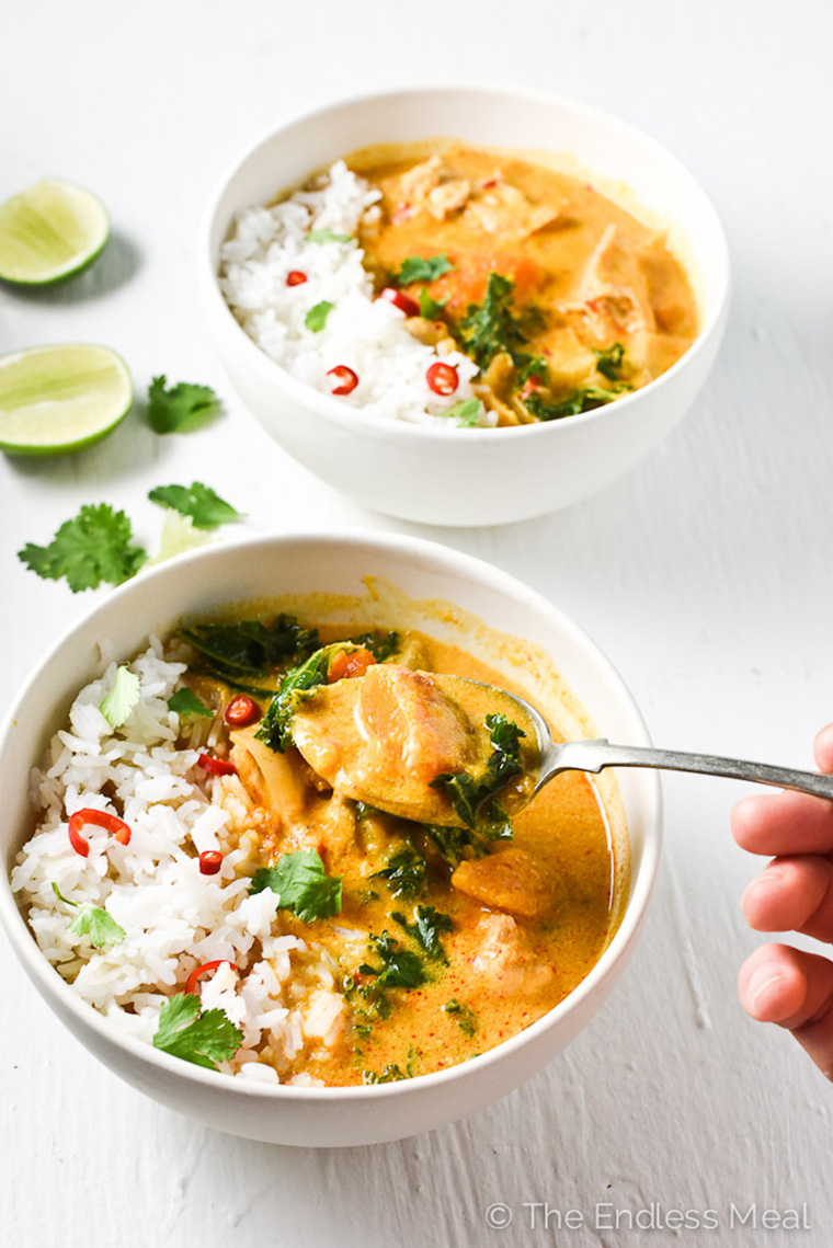 crock pot thai cicken curry by the endless meal