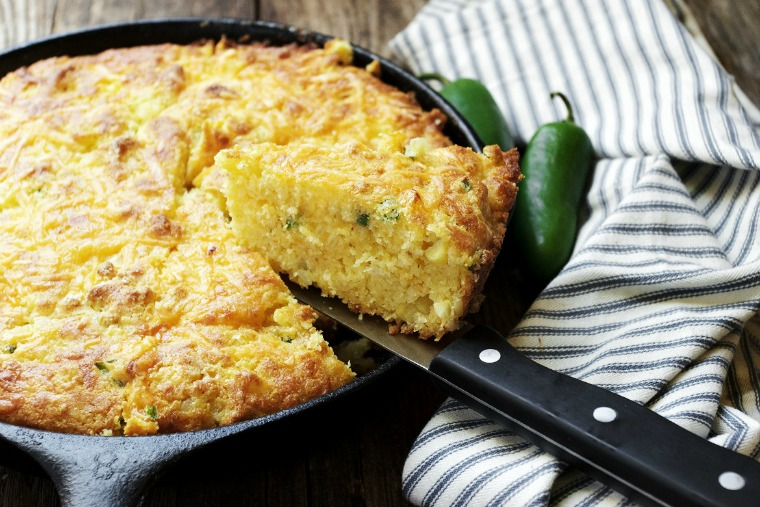 jalapeno cheddar skillet cornbread seasons and suppers