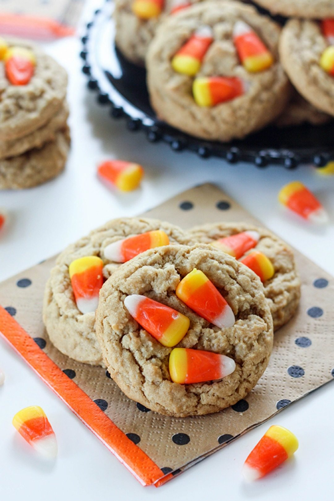 peanut butter candy corn cookies sweet tooth featured image
