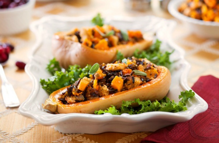 whole wheat stuffed butternut squash veg kitchen