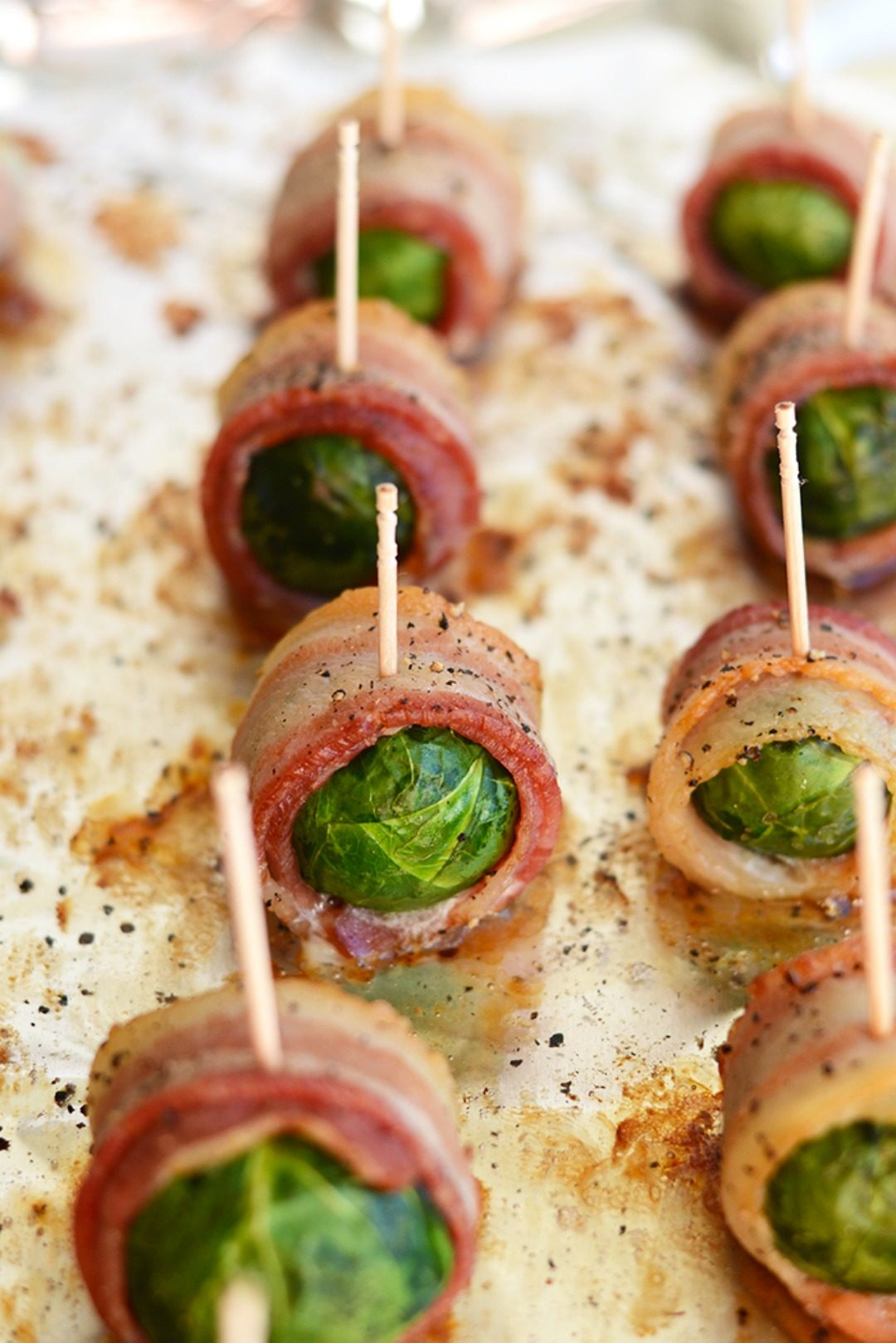 bacon wrapped brussel sprouts fit foodie finds
