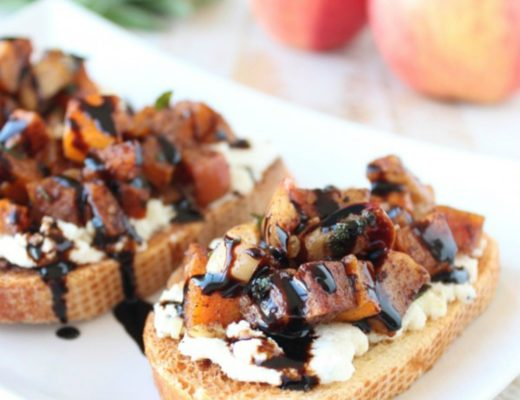 butternut squash apple bruschetta whitney bond