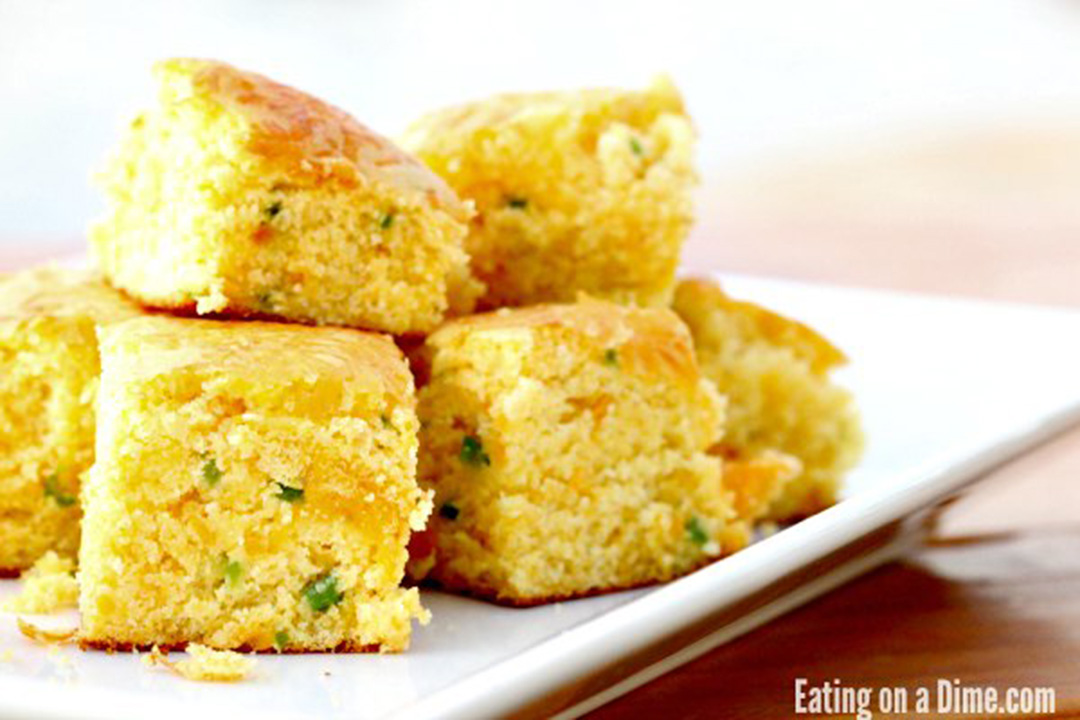 cheddar jalapeno cornbread by eating on a dime