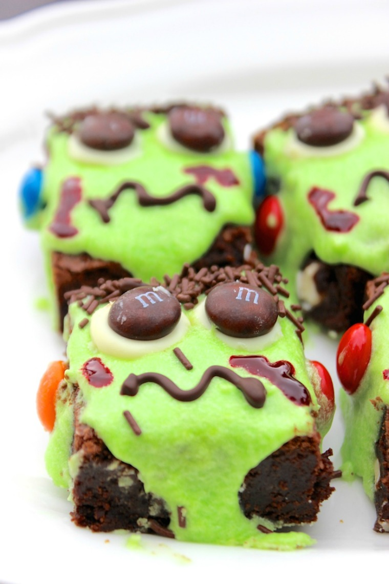 frankenstein brownie recipe halloween hot chocolate hits