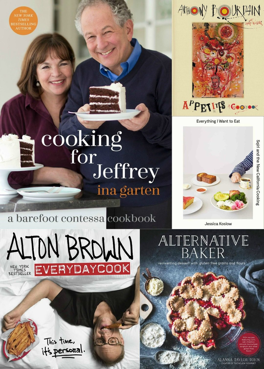 cookbook gift collage