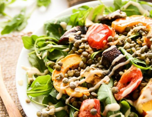 french lentil and roasted vegetable salad delicata squash blissful basil