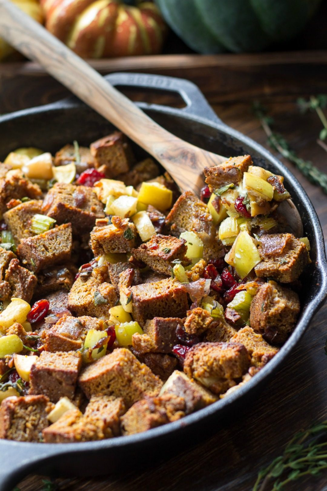 paleo pumpkin bread stuffing thanksgiving paleo running mama featured image