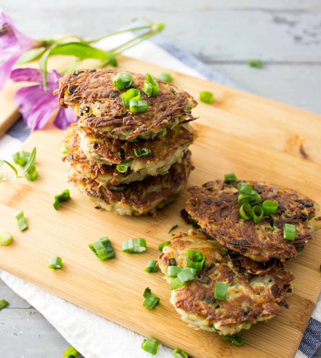 rosemary garlic latkes savory tooth