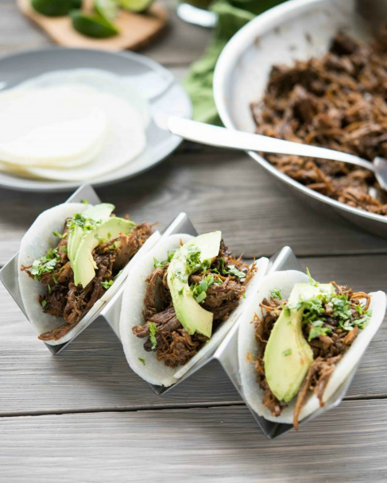 slow cooker barbacoa with jicama tortillas fed and fit