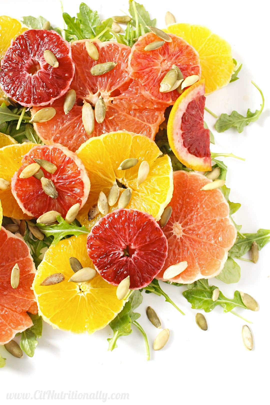winter citrus and arugula salad c it nutritionally