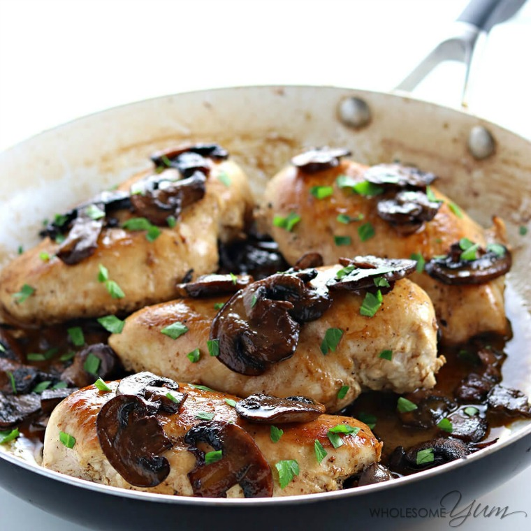 easy low carb paleo chicken marsala wholesome yum