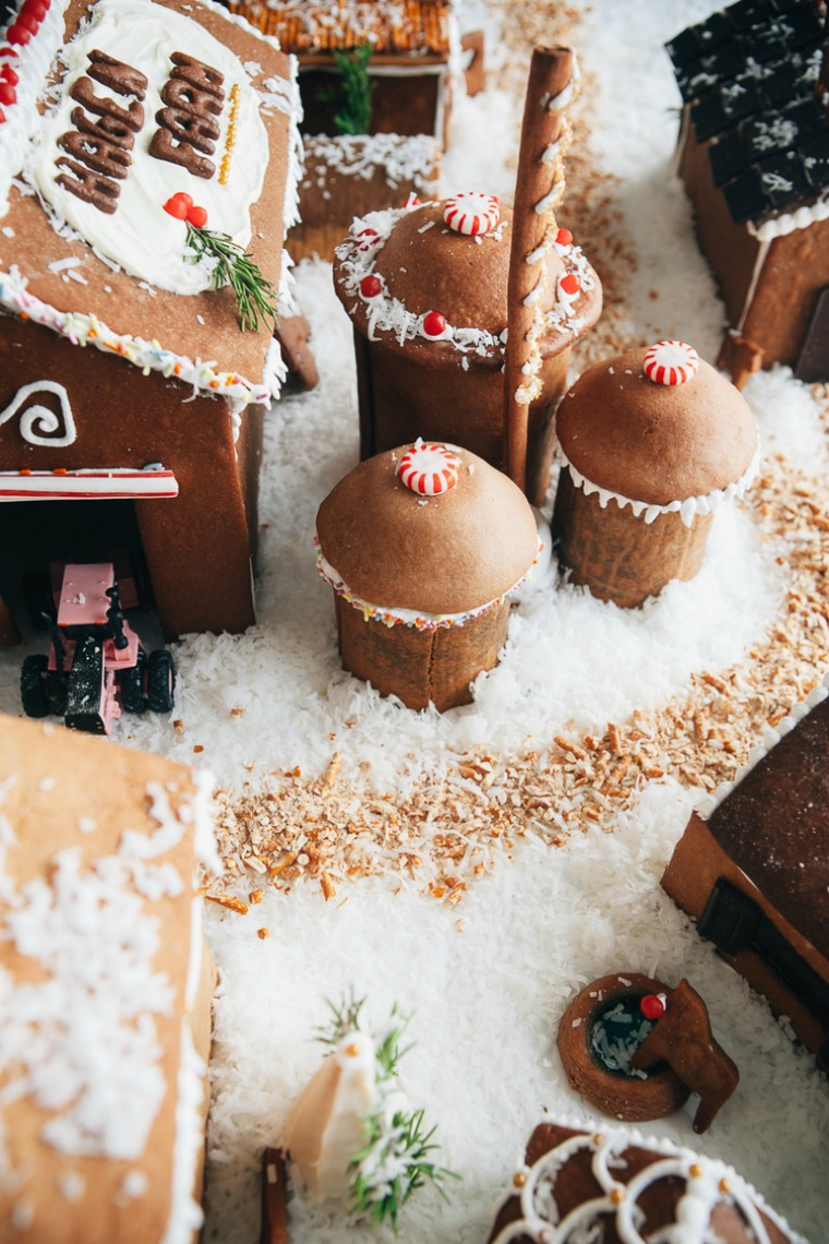 gingerbread house farm molly yeh
