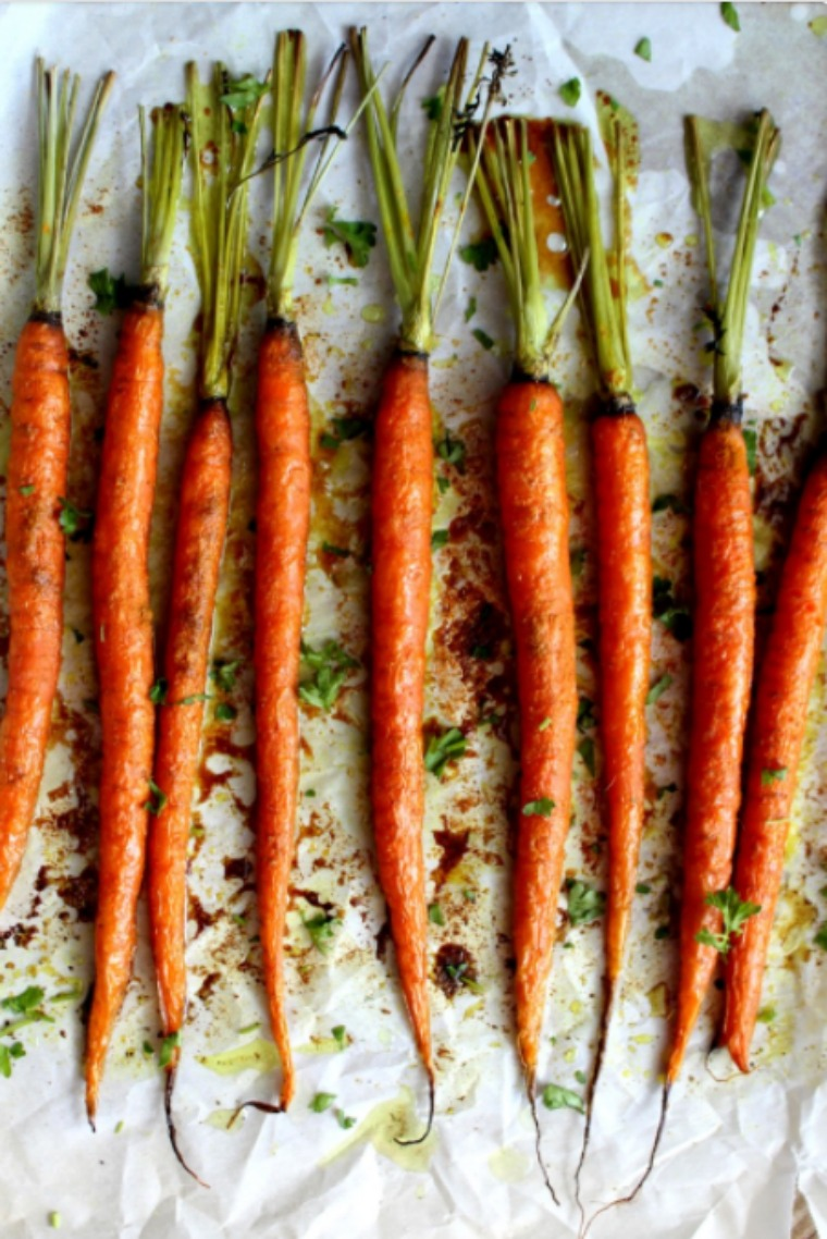 turmeric and maple syrup roasted carrots food by jonister