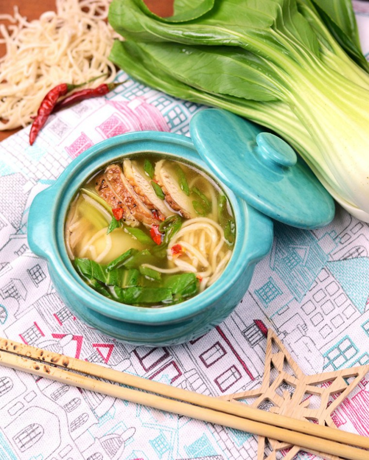 chinese noodle soup vintage kitty