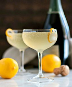 meyer lemon french 75 pinch and swirl