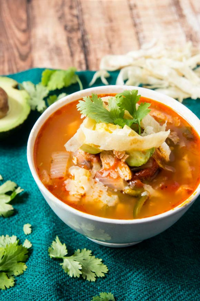 tortilla soup instant pot foraged dish