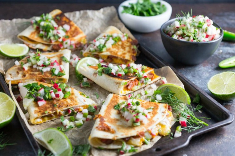chorizo quesadillas with radish and fennel salsa nerds with knives