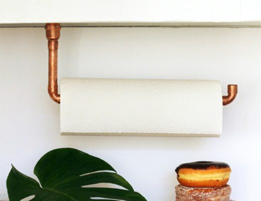 copper pipe towel holder featured image