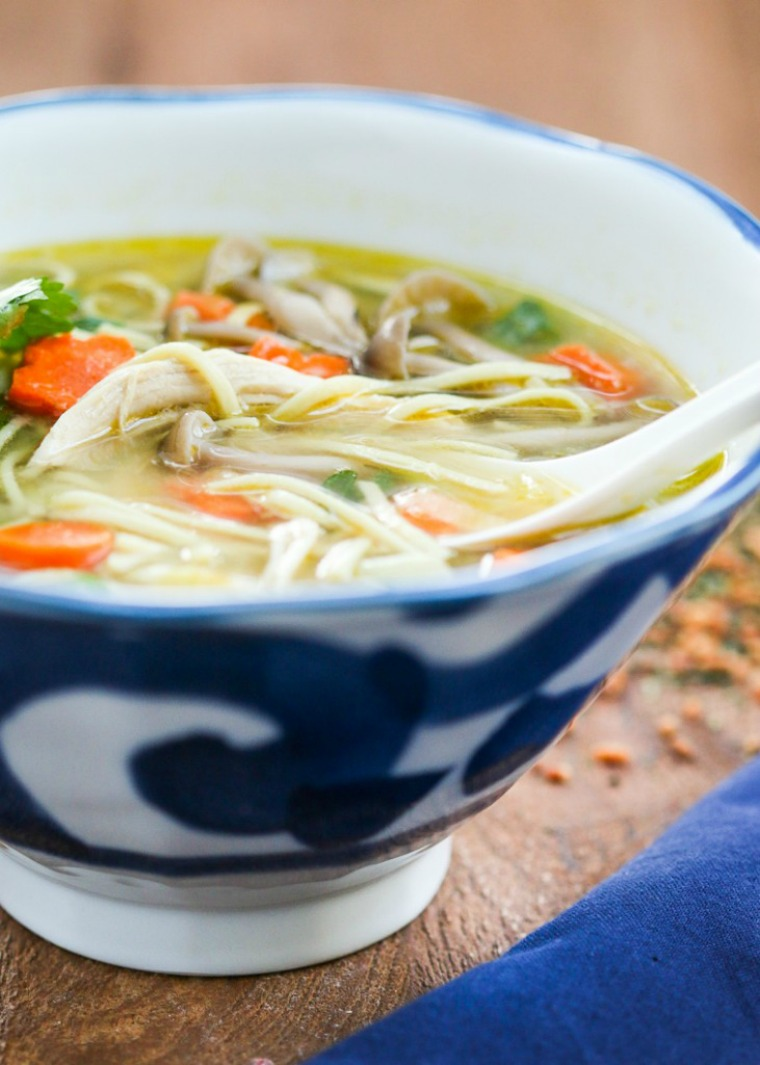 green tea chicken soba soup thirsty for tea