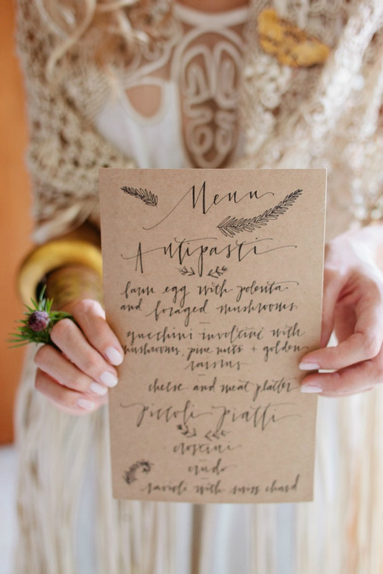 menu calligraphy at home in love