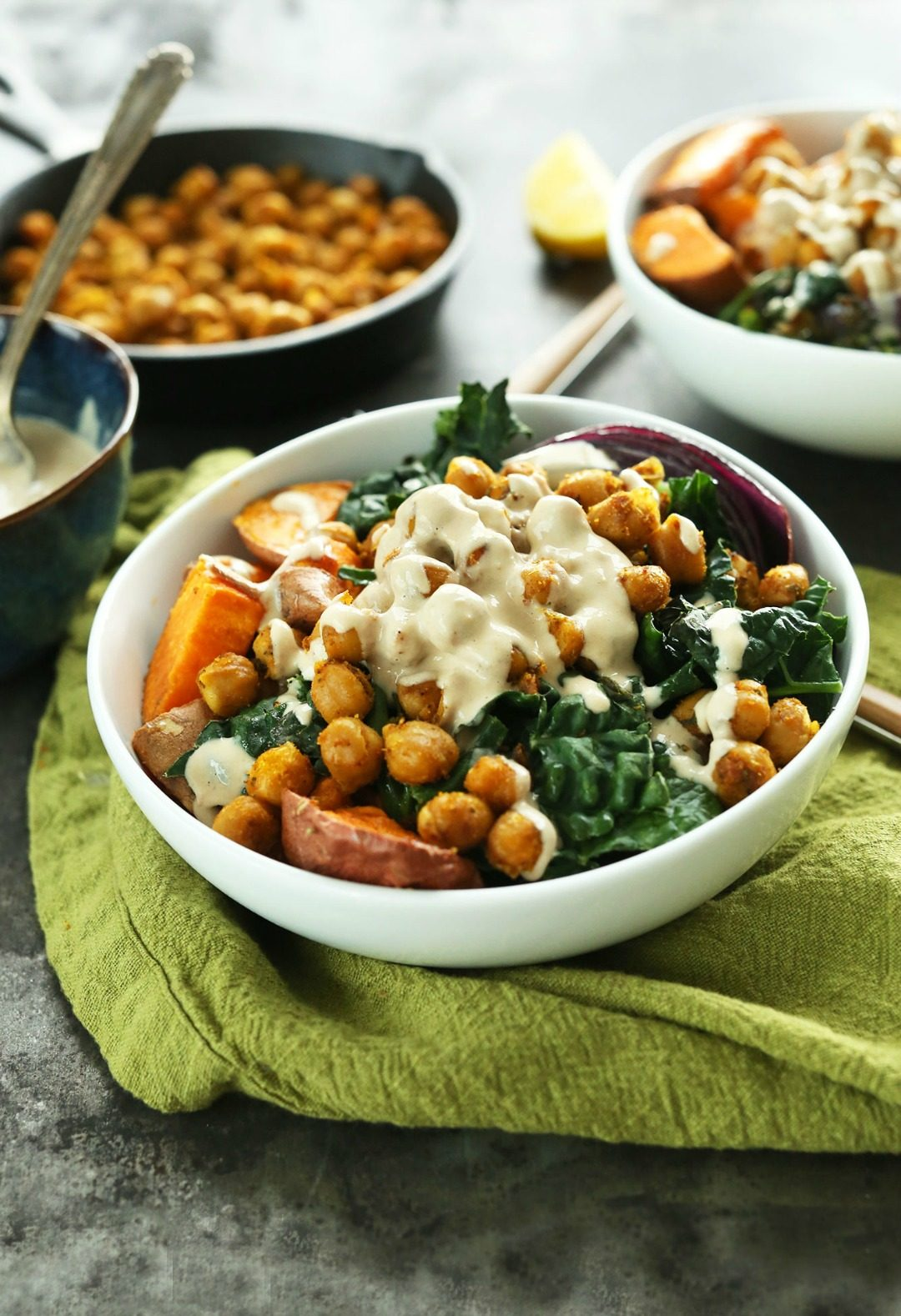 sweet potato chickpea buddha bowl minimalist baker featured image