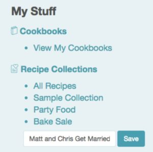 wedding recipe collection cookbook create