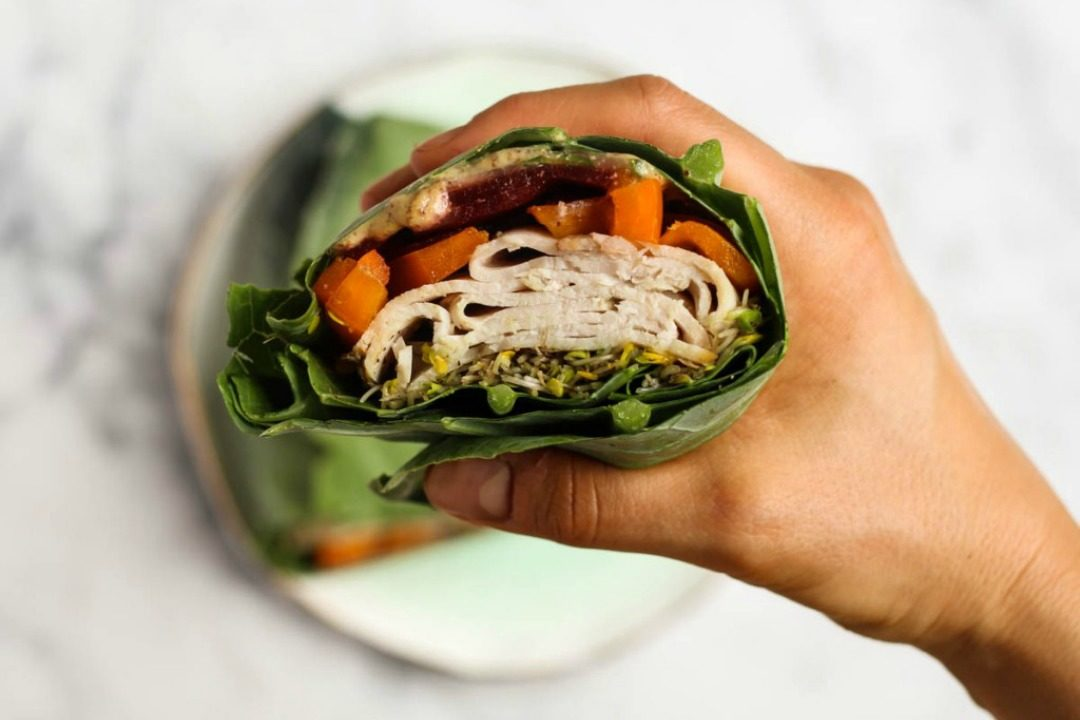 Whole30 Turkey Collard Wraps