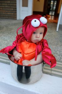 Baby in a Lobster Pot Halloween She Just Glows
