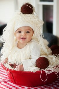 DIY Baby Spaghetti and Meatballs Costume Halloween Pretty Plain Janes