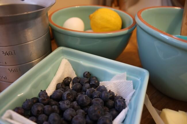 Ingredients for Blueberry Cake