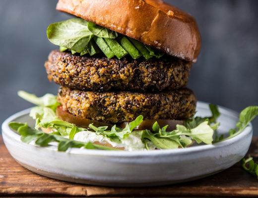 Roasted zucchini burger by half baked harvest