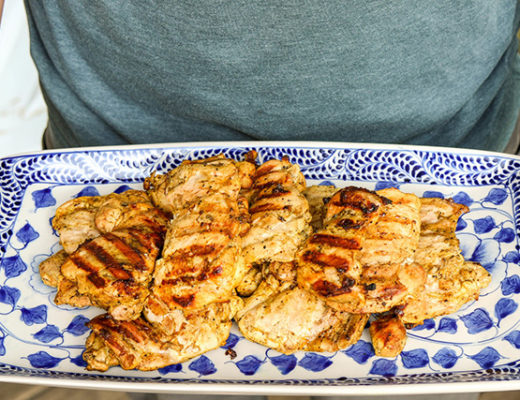 north african grilled chicken by the hungry hounds blog