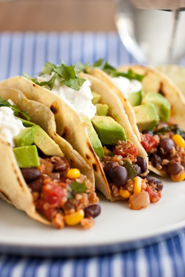 Jaclyn, Cooking Classy, Tacos, Taco Bar, Taco fillings, Quinoa Black Bean and Corn Tacos