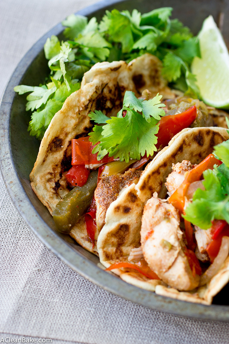 slow cooker chicken fajitas by a clean bake