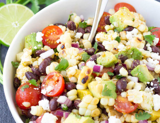 summer grilled corn salad by kristines kitchen
