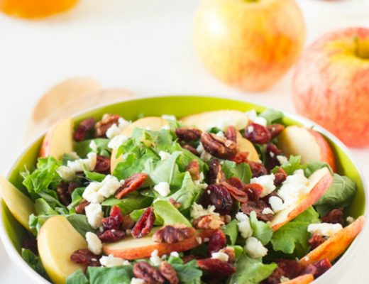 apple pecan and feta salad with honey apple dressing jessica in the kitchen
