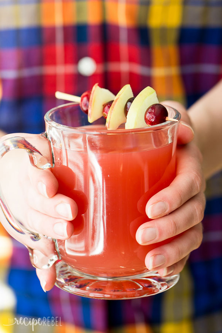 cranberry slow cooker apple cider by the recipe rebel