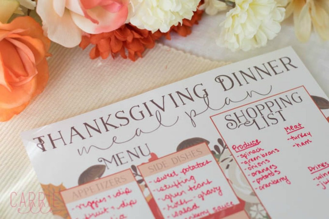 thanksgiving planning printables carrie elle