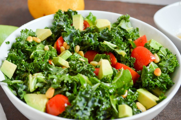 sweet and spicy kale salad sassy eats