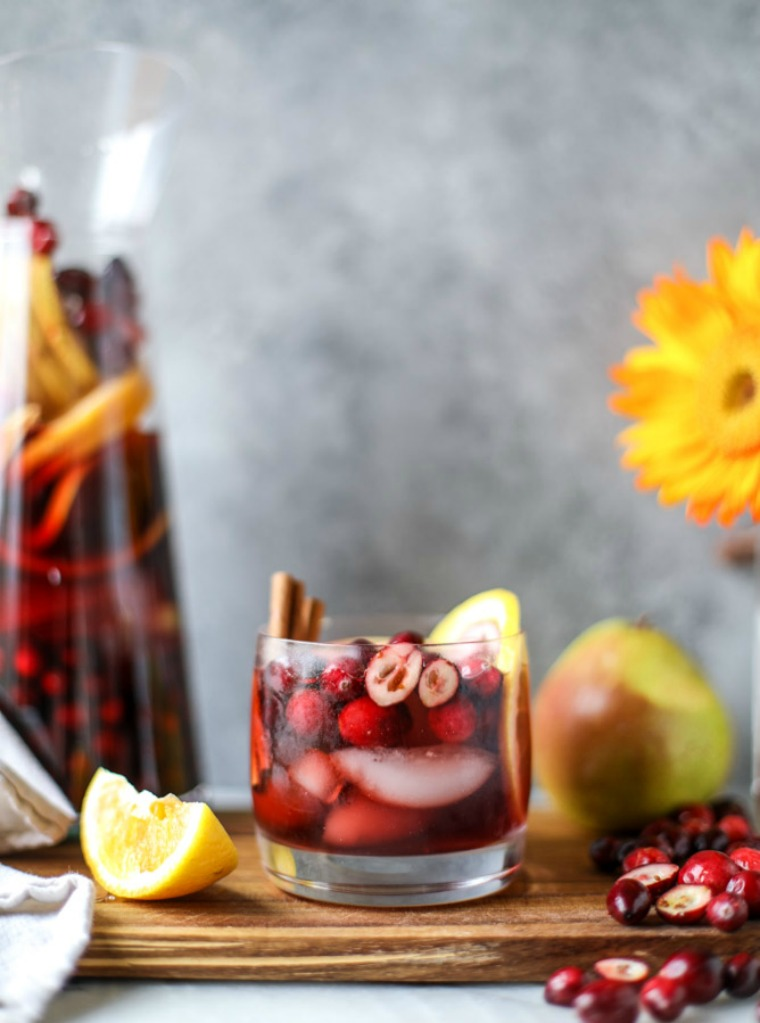 cranberry chai sangria how sweet eats